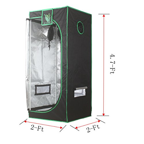 G-LEAF-100-Reflective-600D-Mylar-Window-Grow-Tent-24x24x56-Non-Toxic-Hydroponic-Indoor-Room-0-0