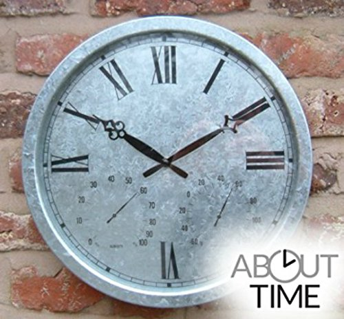 Galvanised-Outdoor-Garden-Clock-35cm-138-0