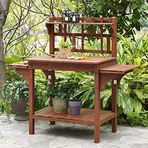 Garden-Potting-Bench-with-Storage-Shelf-Wood-Outdoor-Large-Work-Table-plans-Gardening-Planting-Station-Brown-0