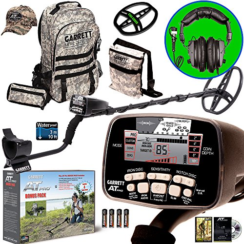 Garrett-AT-PRO-Metal-Detector-Bonus-Pack-with-Headphones-Backpack-Pouch-Hat-and-Searchcoil-Cover-0