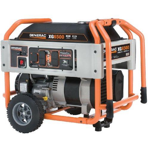 Generac-XG6500-410cc-OHVI-Gas-Powered-Portable-Generator-with-Wheel-Kit-0