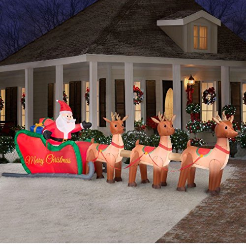 Giant-16-ft-Inflatable-Lighted-Santa-in-Sleigh-with-Reindeer-Outdoor-Christmas-Holiday-Decor-for-Yard-or-Lawn-A-Festive-Seasonal-Gift-0