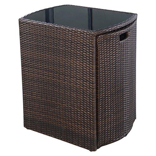 Giantex-3-PCS-Cushioned-Outdoor-Wicker-Patio-Set-Garden-Lawn-Sofa-Furniture-Seat-Brown-0-1