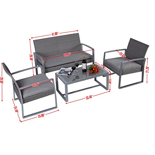 Giantex-4pc-Patio-Furniture-Set-Cushioned-Outdoor-Wicker-Rattan-Garden-Lawn-Sofa-Seat-0-0