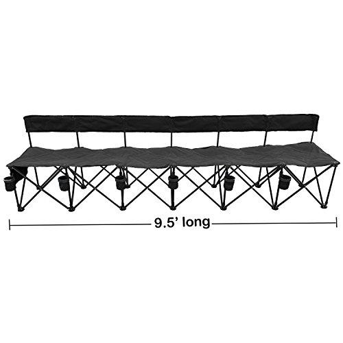 GoTeam-Pro-6-Seat-Portable-Folding-Team-Bench-Black-0-0