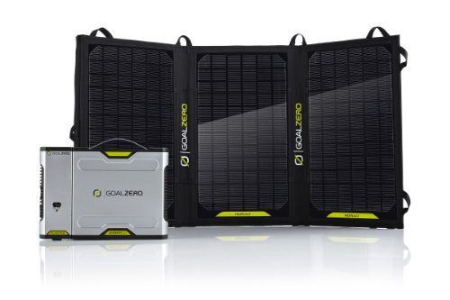 Goal-Zero-Sherpa-50-Solar-Recharging-Kit-with-Inverter-USB-LED-Stick-Light-and-Light-A-Life-LED-Lamp-0