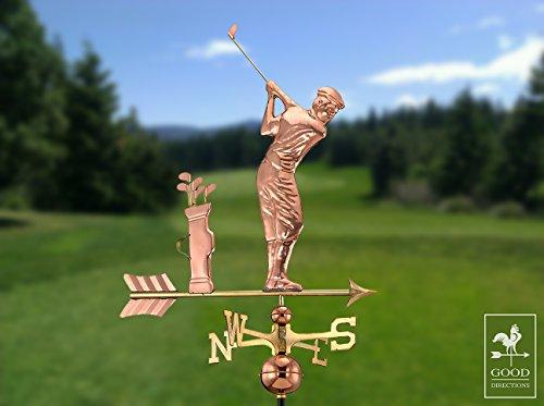 Good-Directions-561P-Golfer-Weathervane-Polished-Copper-0-0