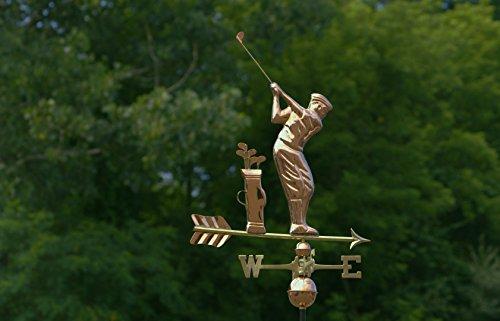 Good-Directions-561P-Golfer-Weathervane-Polished-Copper-0-1