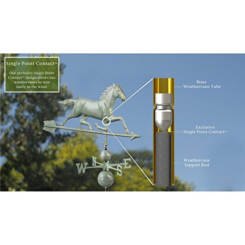 Good-Directions-580P-Horse-Weathervane-Polished-Copper-0-1