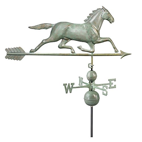 Good-Directions-580P-Horse-Weathervane-Polished-Copper-0