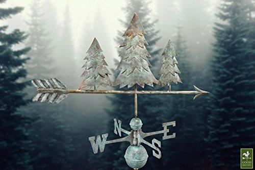 Good-Directions-625V1-Pine-Trees-Weathervane-Blue-Verde-Copper-0-0