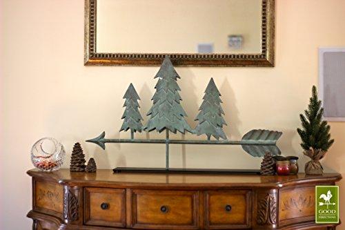 Good-Directions-625V1-Pine-Trees-Weathervane-Blue-Verde-Copper-0-1