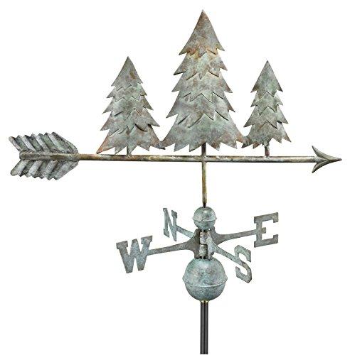 Good-Directions-625V1-Pine-Trees-Weathervane-Blue-Verde-Copper-0