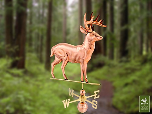 Good-Directions-638P-Standing-Deer-Weathervane-Polished-Copper-0-0