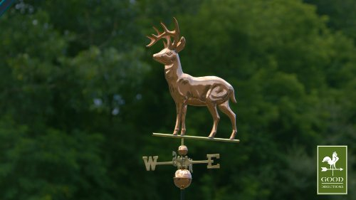 Good-Directions-638P-Standing-Deer-Weathervane-Polished-Copper-0-1