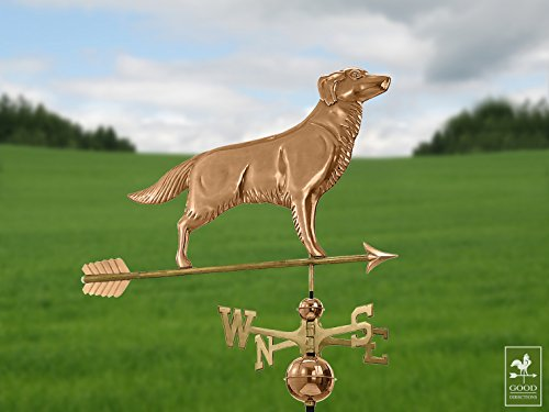 Good-Directions-644PA-Golden-Retriever-Weathervane-with-Arrow-Polished-Copper-0-0