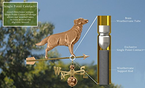 Good-Directions-644PA-Golden-Retriever-Weathervane-with-Arrow-Polished-Copper-0-1