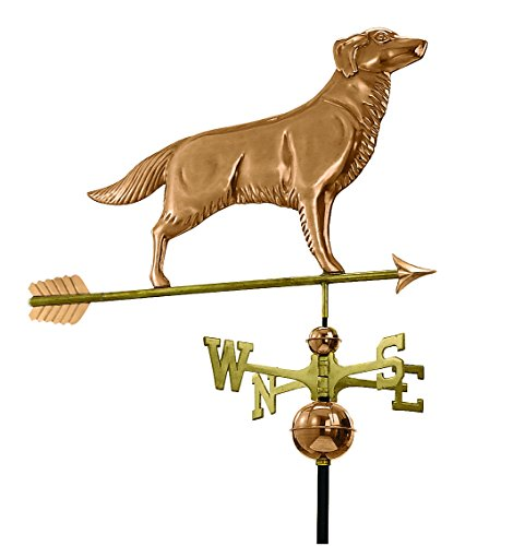 Good-Directions-644PA-Golden-Retriever-Weathervane-with-Arrow-Polished-Copper-0