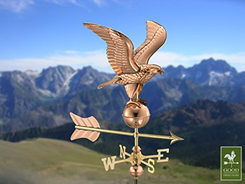 Good-Directions-8815PR-Eagle-Cottage-Weathervane-Polished-Copper-with-Roof-Mount-0-0