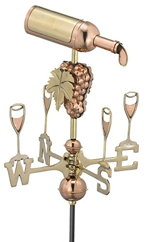Good-Directions-8843PG-Wine-Bottle-Garden-Weathervane-Polished-Copper-with-Garden-Pole-0
