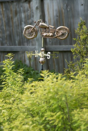Good-Directions-8846PR-Motorcycle-Cottage-Weathervane-Polished-Copper-with-Roof-Mount-0-1