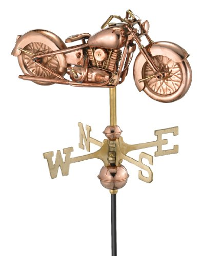 Good-Directions-8846PR-Motorcycle-Cottage-Weathervane-Polished-Copper-with-Roof-Mount-0