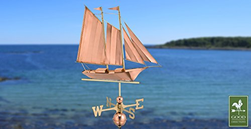 Good-Directions-9601P-Schooner-Weathervane-Polished-Copper-0-0