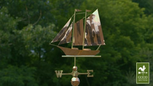 Good-Directions-9601P-Schooner-Weathervane-Polished-Copper-0-1