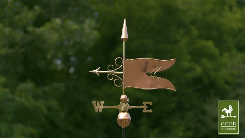 Good-Directions-9628P-Banner-Weathervane-Polished-Copper-0-1