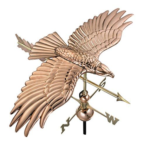 Good-Directions-9699PA-Soaring-Hawk-Weathervane-Polished-Copper-0