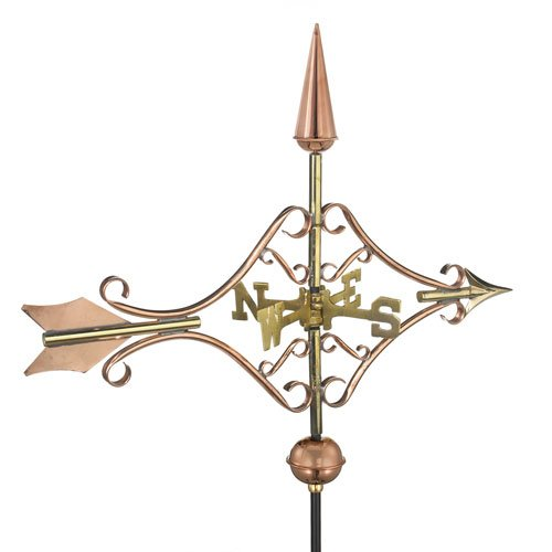 Good-Directions-GOOD8842PGD-Polished-Copper-Victorian-Arrow-Garden-Weathervane-0