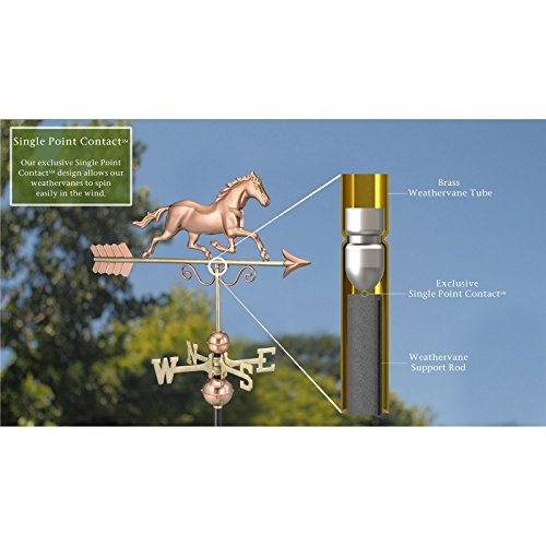 Good-Directions-Galloping-Horse-Weathervane-Polished-Copper-0-0