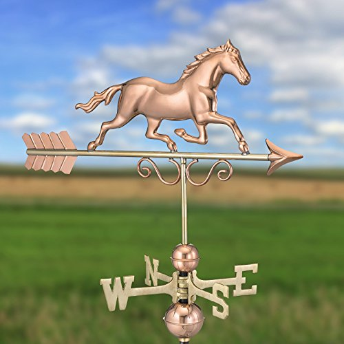 Good-Directions-Galloping-Horse-Weathervane-Polished-Copper-0-1