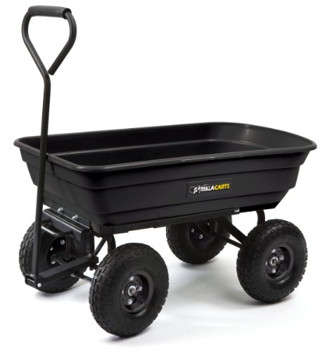 Gorilla-Carts-GOR200B-Poly-Garden-Dump-Cart-with-Steel-Frame-and-10-Inch-Pneumatic-Tires-0