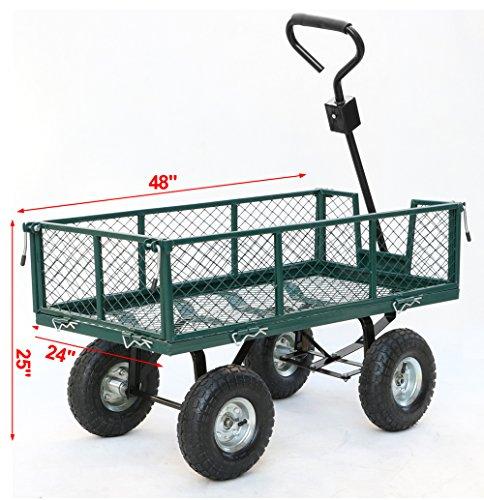Gotobuy-Wagon-Cart-800-LB-Capacity-Utility-Heavy-Duty-Yard-Garden-Home-0-0