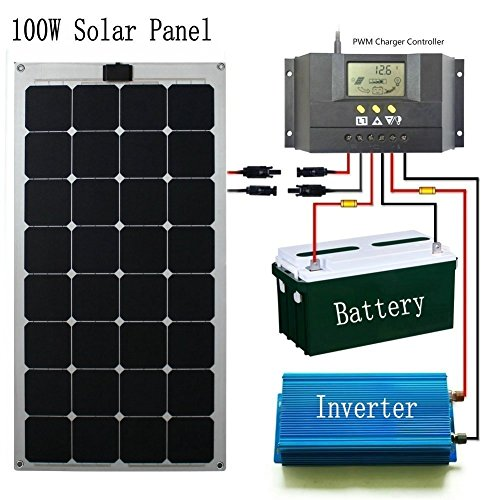 GreeSonic-SunPower-Semi-Flexible-Solar-Panel-100W-ETFEAluminum-Photovoltaic-Solar-Panel-Thermostable-with-MC4-connectors-0-0