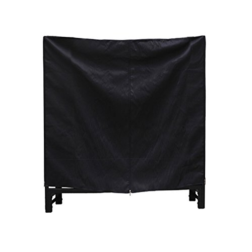 HIO-Firewood-Cover-Log-Wood-Storage-Rack-Cover-Fireplace-Accessories-Black-0-1