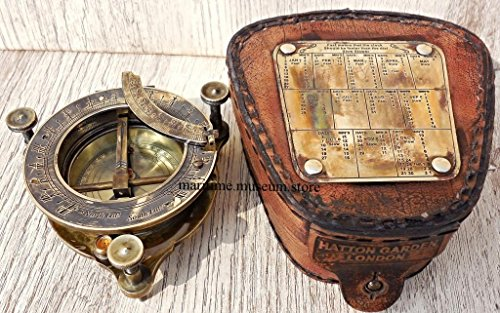 Handmade-Brass-Sundial-Compass-with-Leather-BoxC-3177-0