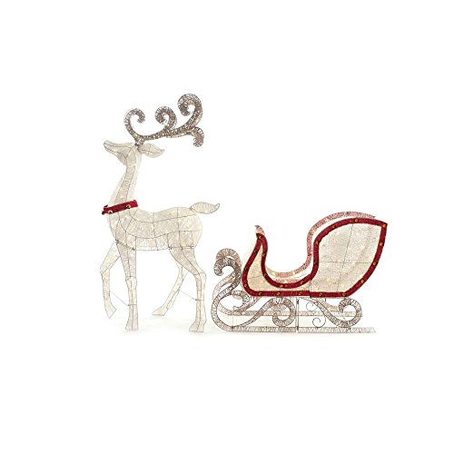 Home-Accents-Holiday-Indooroutdoo-65-in-LED-Lighted-White-Deer-and-46-in-LED-Lighted-Sleigh-0-0