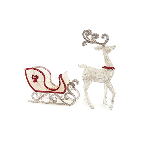 Home-Accents-Holiday-Indooroutdoo-65-in-LED-Lighted-White-Deer-and-46-in-LED-Lighted-Sleigh-0-1