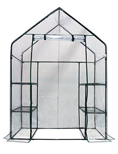 Homewell-Mini-Walk-In-Greenhouse-4-shelves-56L-x-29W-x-77H-0