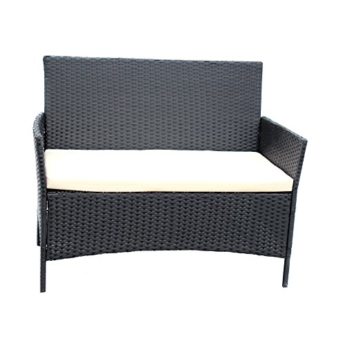 IDS-Home-Compact-4-PC-OutdoorIndoor-Rattan-Patio-Furniture-Set-Black-Wicker-Garden-Lawn-White-Cushioned-Sofa-Seat-Coffee-Table-0-1