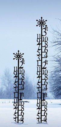 Iron-3-Ft-Christmas-Holiday-Snowflake-Snowfall-Measuring-Gauge-Black-Metal-0-0