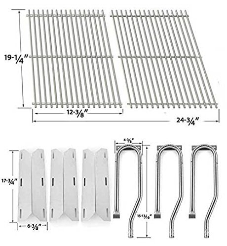 Jenn-Air-720-0336-7200336-720-0336-Repair-Kit-Includes-3-Stainless-Burner-3-stainless-Heat-Plates-and-Stainless-Cooking-Grates-0