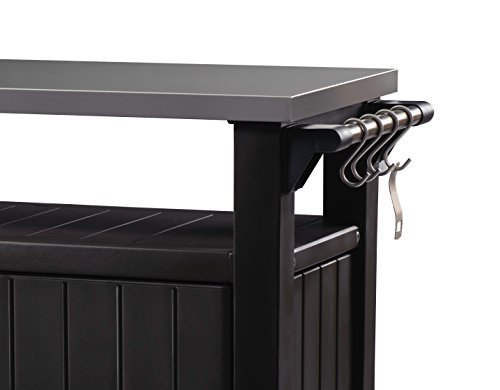 Keter-Unity-XL-Indoor-Outdoor-Entertainment-BBQ-Storage-Table-Prep-Station-Serving-Cart-with-Metal-Top-0-1