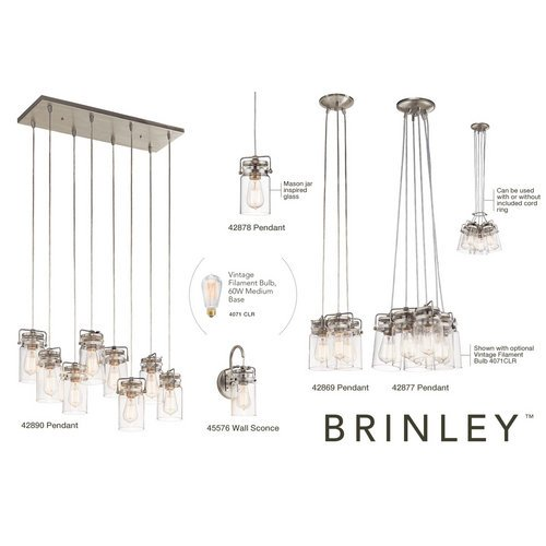 Kichler-Brinley-1-Light-Wall-Sconce-and-Clear-Glass-Shade-0-0