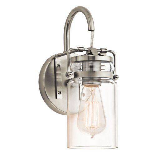 Kichler-Brinley-1-Light-Wall-Sconce-and-Clear-Glass-Shade-0
