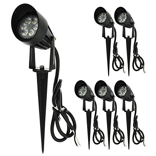 LEDwholesalers-Low-Voltage-LED-Outdoor-Landscape-Garden-Metal-Spot-Light-Fixture-with-Built-In-Shade-12V-ACDC-7W-6-Pack-Warm-White-3753WWx6-0