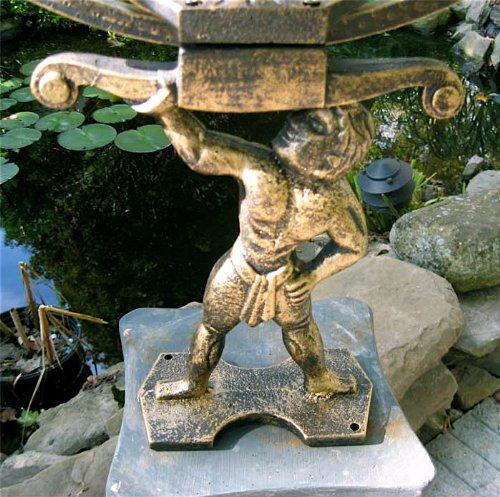 Large-Solid-Brass-Iron-Hercules-Sundial-Garden-Decor-0-0
