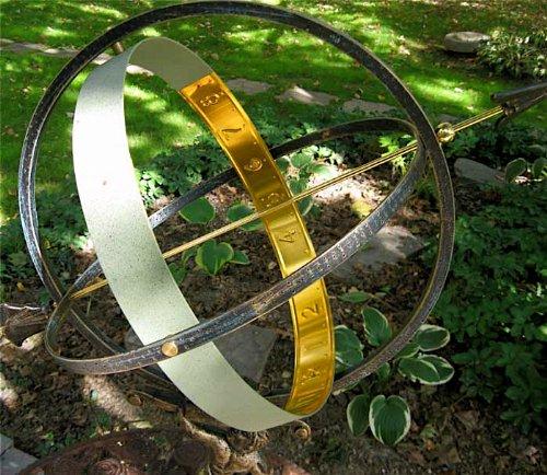 Large-Solid-Brass-Iron-Hercules-Sundial-Garden-Decor-0-1